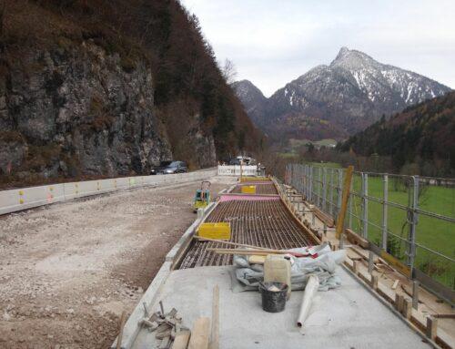 Sanierung B21 Bodenberg -Schneizlreuth / Meleck unter Verkehr