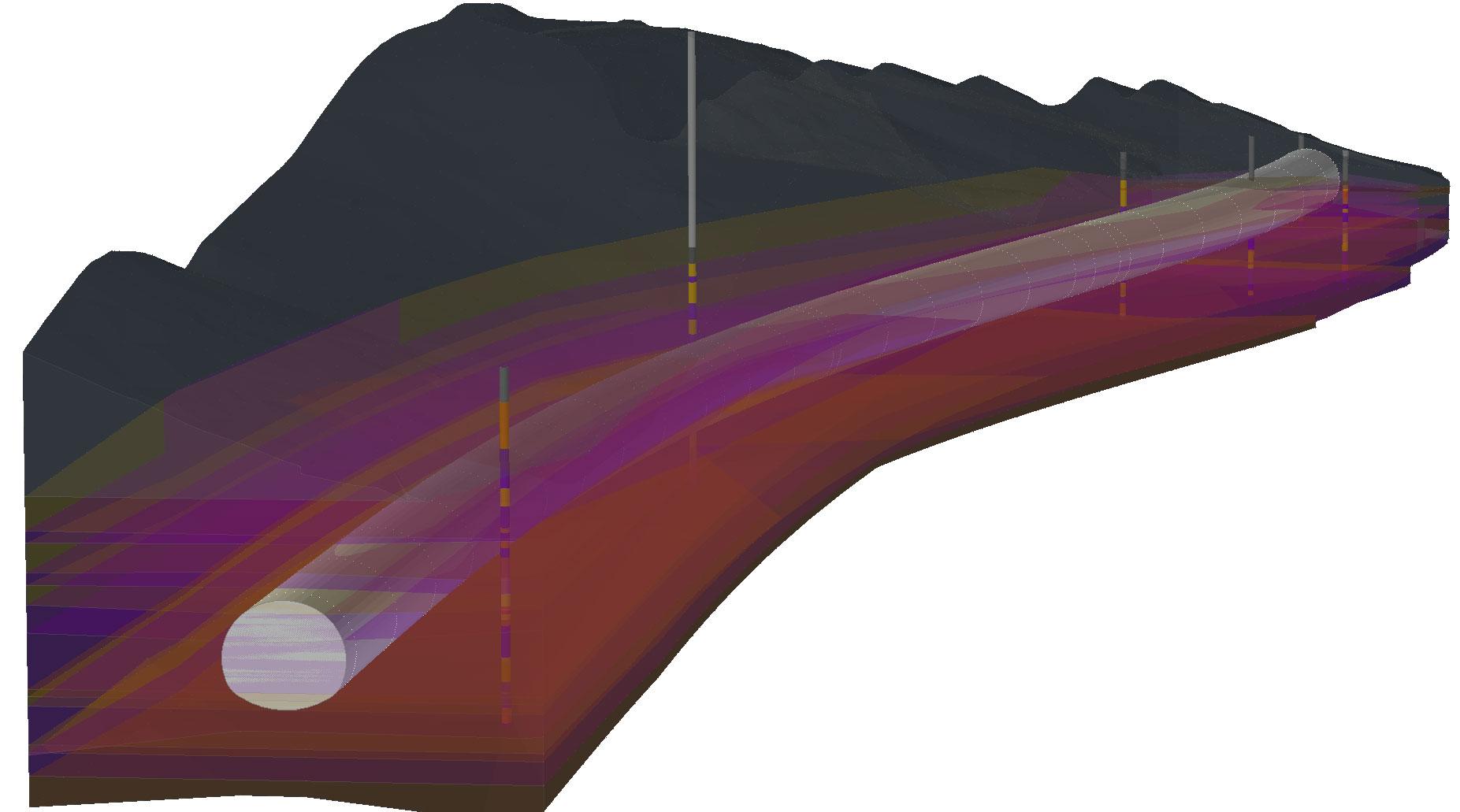 Raeumliches-Modell-mit-Tunnel-drinnen