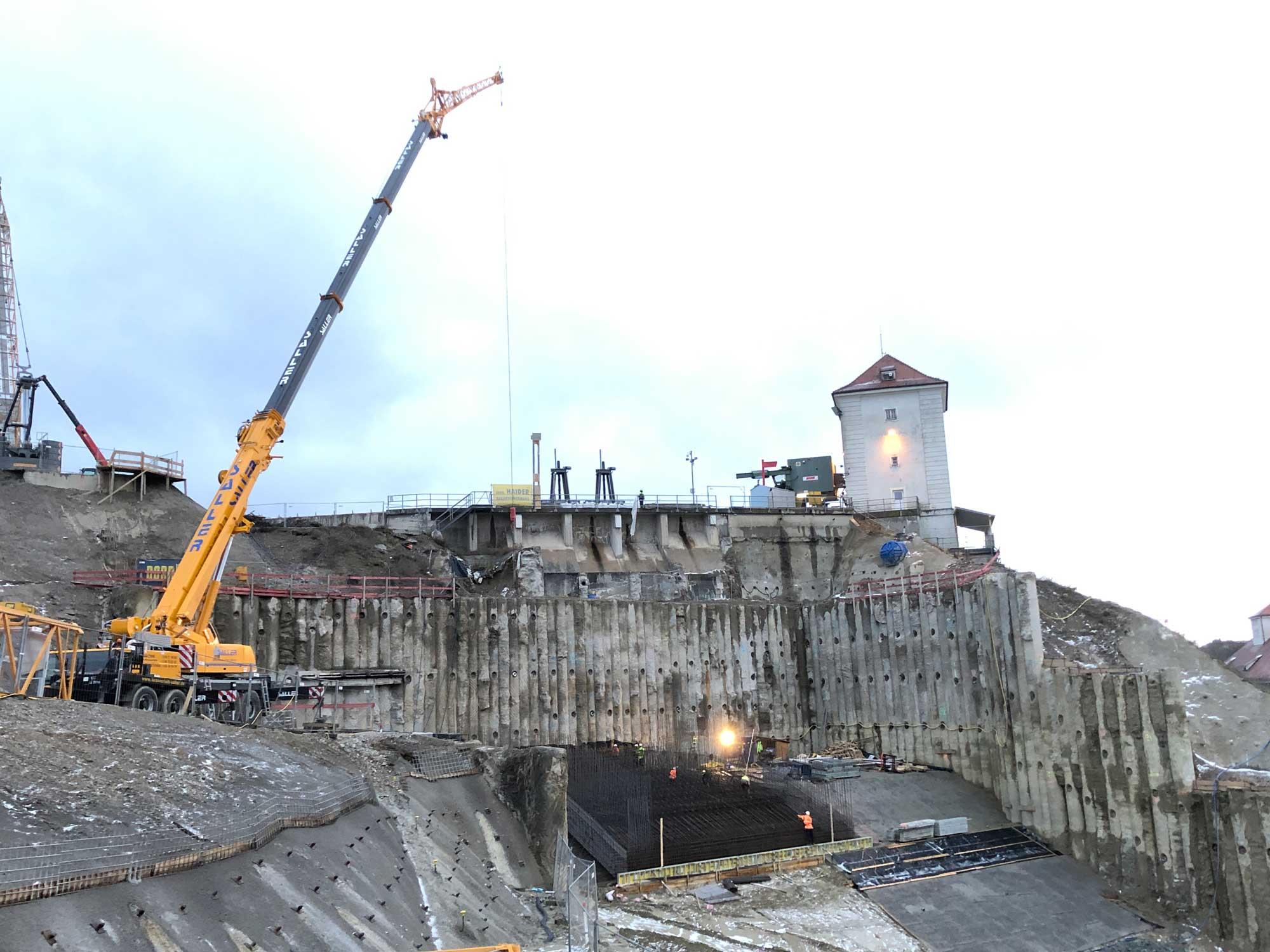 Neubau KW Töging / Hauptbaugrube