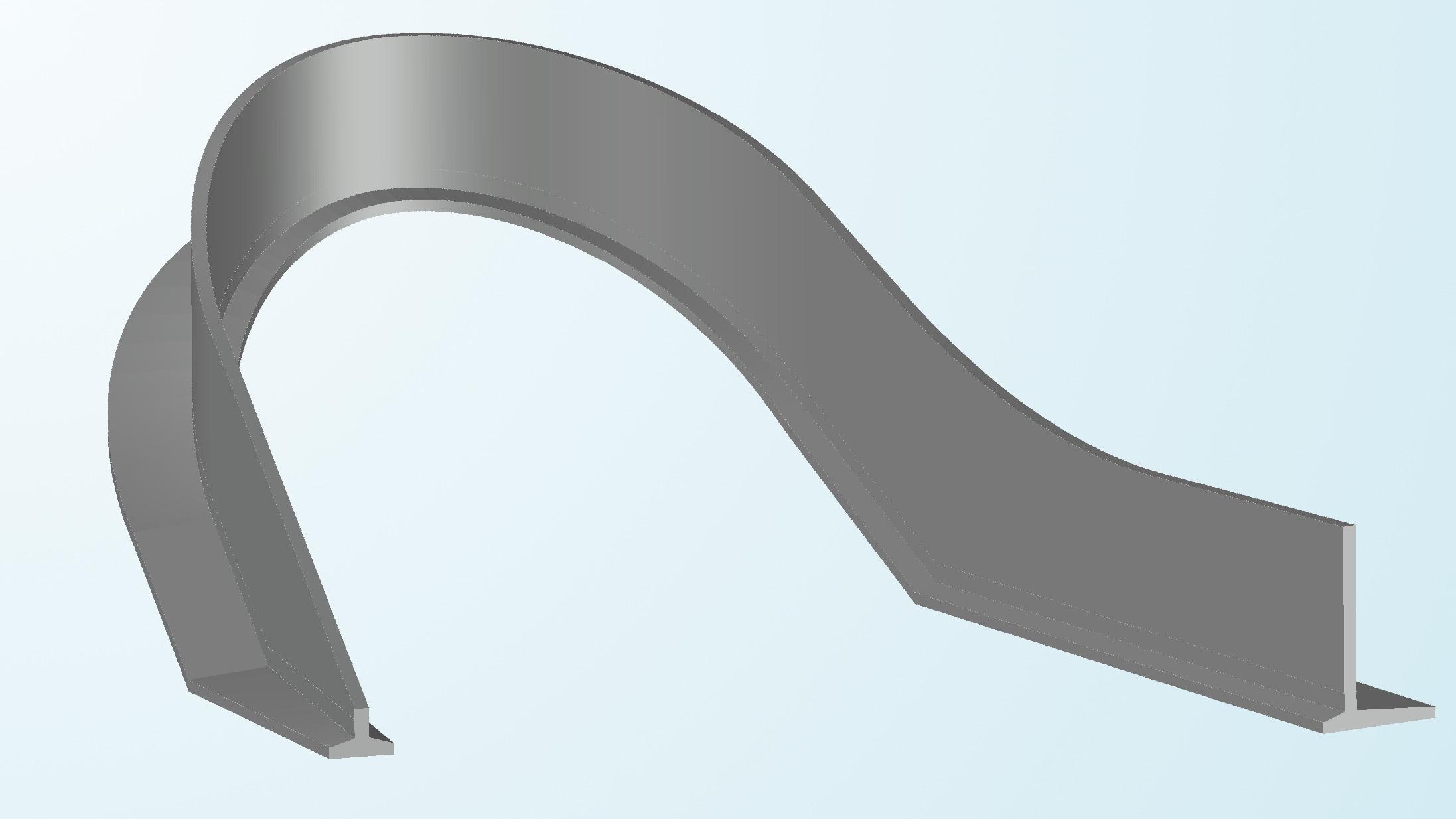 Aubergtunnel Irritationsschutzwand - 3D-Druck